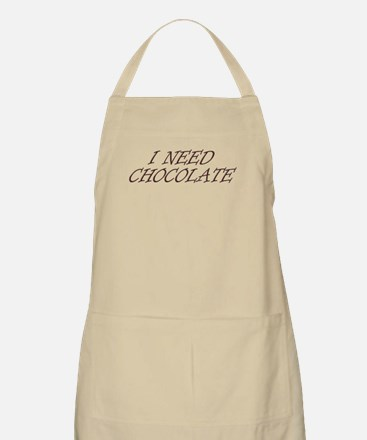 I Need Chocolate Light Apron