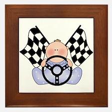 Lil Race Winner Baby Boy Framed Tile