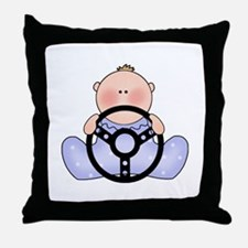 Lil Race Baby Boy Throw Pillow
