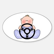 Lil Race Baby Boy Oval Decal