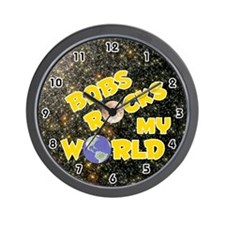 Babs Rocks My World (Gold) Wall Clock