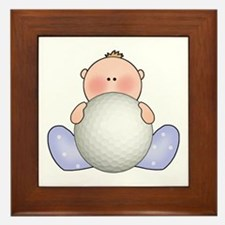 Lil Golf Baby Boy Framed Tile