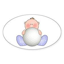 Lil Golf Baby Boy Oval Decal