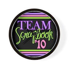 Team Scrapbook '10 Wall Clock