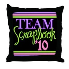 Team Scrapbook '10 Throw Pillow