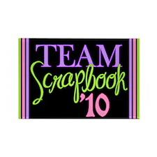 Team Scrapbook '10 Rectangle Magnet