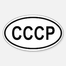 CCCP Oval Decal