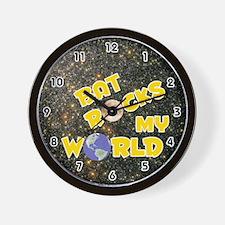 Bat Rocks My World (Gold) Wall Clock