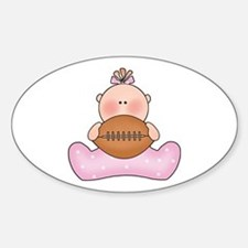 Lil Football Baby Girl Oval Decal