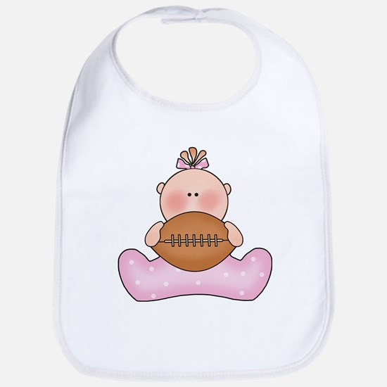 Lil Football Baby Girl Bib