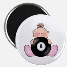 Lil Billiards Baby Girl Magnet