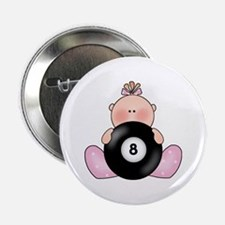 "Lil Billiards Baby Girl 2.25"" Button"