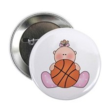 "Lil Basketball Baby Girl 2.25"" Button"