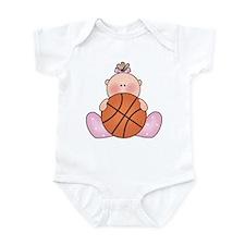 Lil Basketball Baby Girl Infant Bodysuit