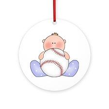 Lil Baseball Baby Boy Ornament (Round)