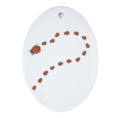 Mother Ladybug Oval Ornament