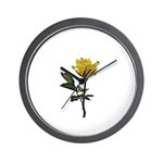 Ladybugs and rose Wall Clock