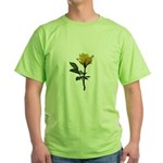 Ladybugs and rose Green T-Shirt