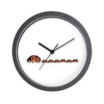 Ladybug Mother Wall Clock