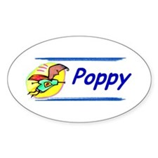 Poppy Oval Decal