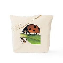 Ladybug and Aphid Tote Bag