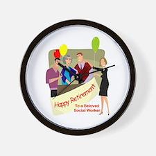 Happy Retirement Wall Clock