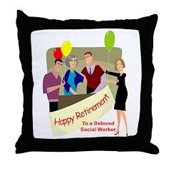 Happy Retirement Throw Pillow
