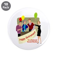 "Happy Retirement 3.5"" Button (10 pack)"