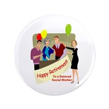 "Happy Retirement 3.5"" Button"