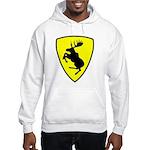 Hooded Moose Sweatshirt, 10 inch moose FRONT