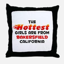 Hot Girls: Bakersfield, CA Throw Pillow
