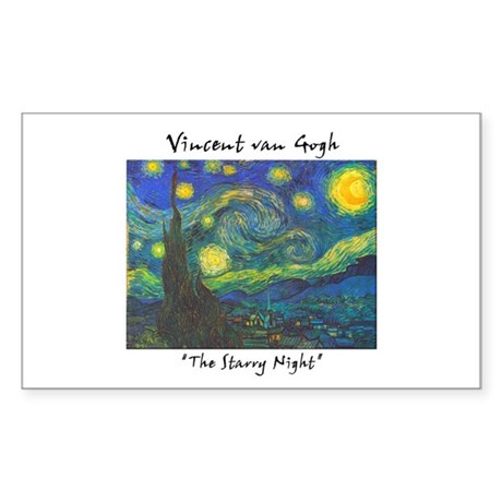 Starry Night Rectangle Sticker