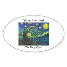 Starry Night Oval Decal