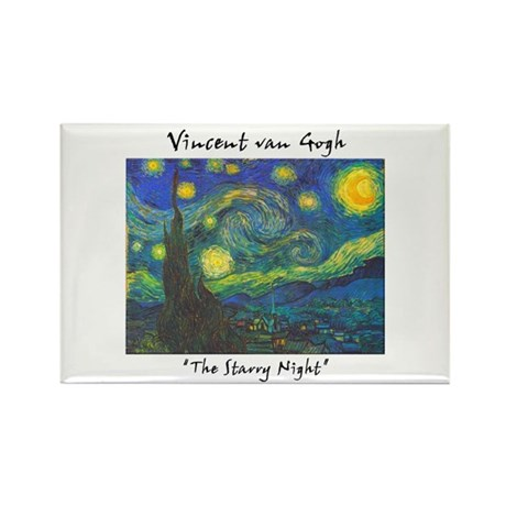 Starry Night Rectangle Magnet (100 pack)
