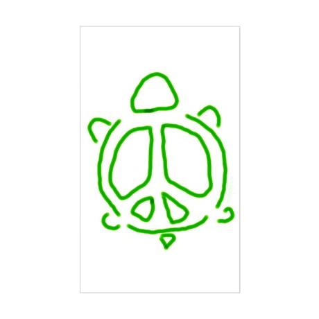 Peace turtle Rectangle Sticker