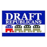 DRAFT REPUBLICANS Rectangle Sticker