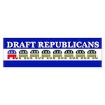 DRAFT REPUBLICANS Bumper Sticker