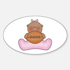 Lil Football Baby Girl-Af Oval Decal