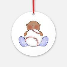 Lil Baseball Baby Boy-Af Ornament (Round)
