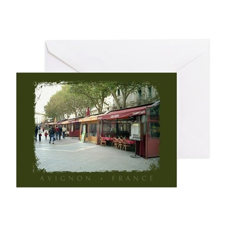 Avignon Cafes Greeting Cards (Pk of 10)