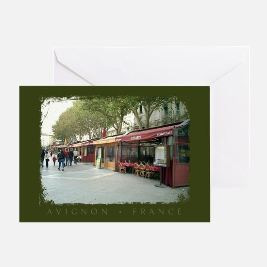 Avignon Cafes Greeting Card