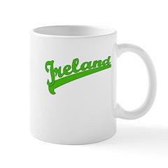 Green Baseball Font IRELAND Mug