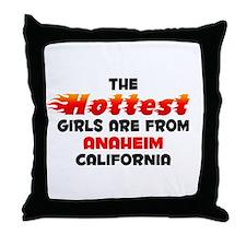 Hot Girls: Anaheim, CA Throw Pillow