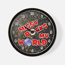 Missy Rocks My World (Red) Wall Clock