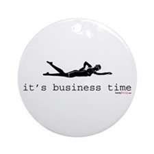 It's Business Time Swimming Ornament (Round)