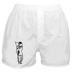 Hand Drawn Chinese Girl+Baby Boxer Shorts