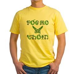 Pog Mo Thoin Kiss My Ass Yellow T-Shirt