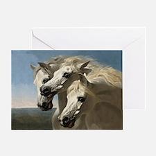 White Arabian Horses. Greeting Card