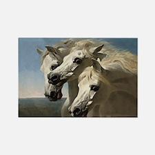 White Arabian Horses. Rectangle Magnet