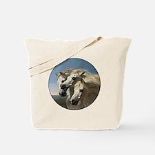 White Arabian Horses. Tote Bag